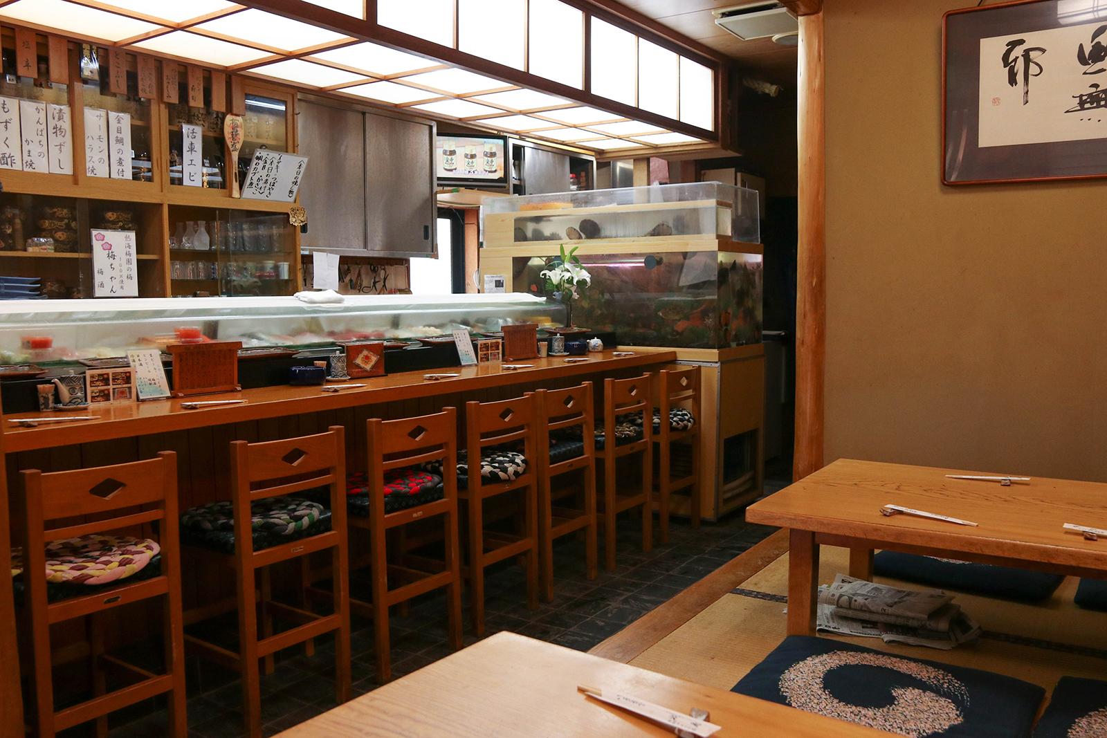 淡島寿司さんの店内の様子